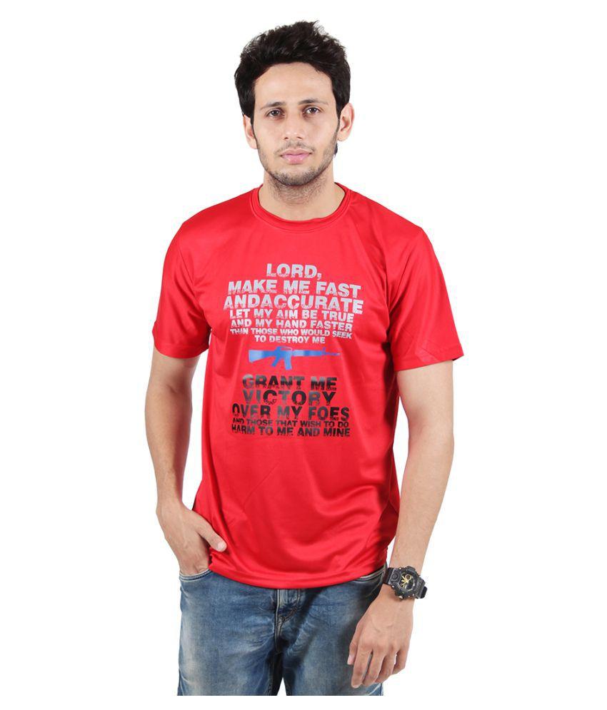 SSAK Red Round T-Shirt