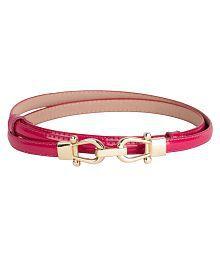 Kazo Pink PU Casual Belts