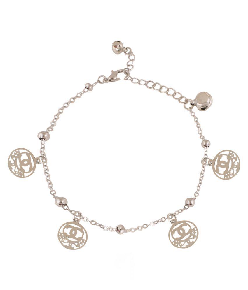 Jazz Jewellery Silver Alloy Anklets