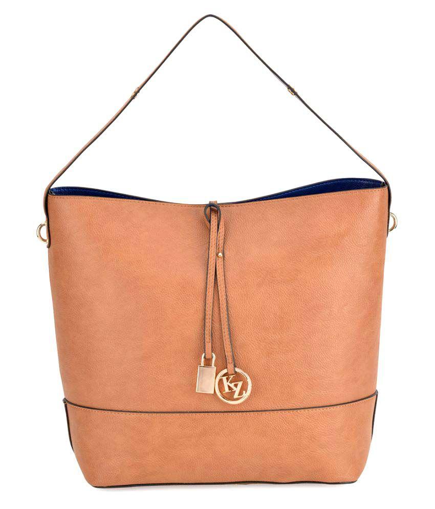 Kazo Brown P.U. Tote Bag