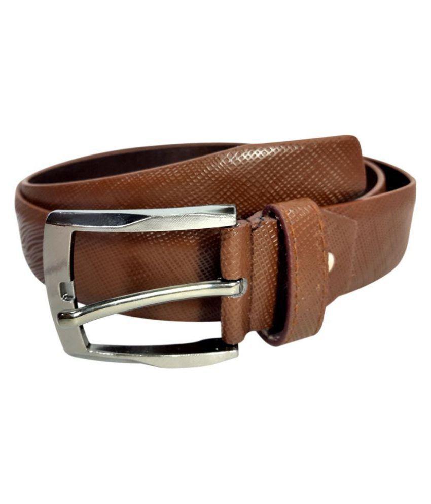 Oglivay Brown PU Casual Belts
