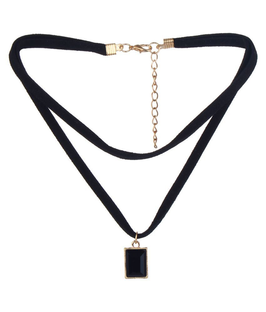 Oomph  Black& Choker Necklace