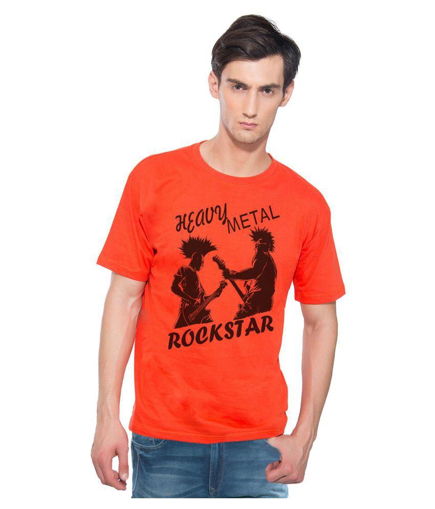 Swag Theory Orange Round T-Shirt