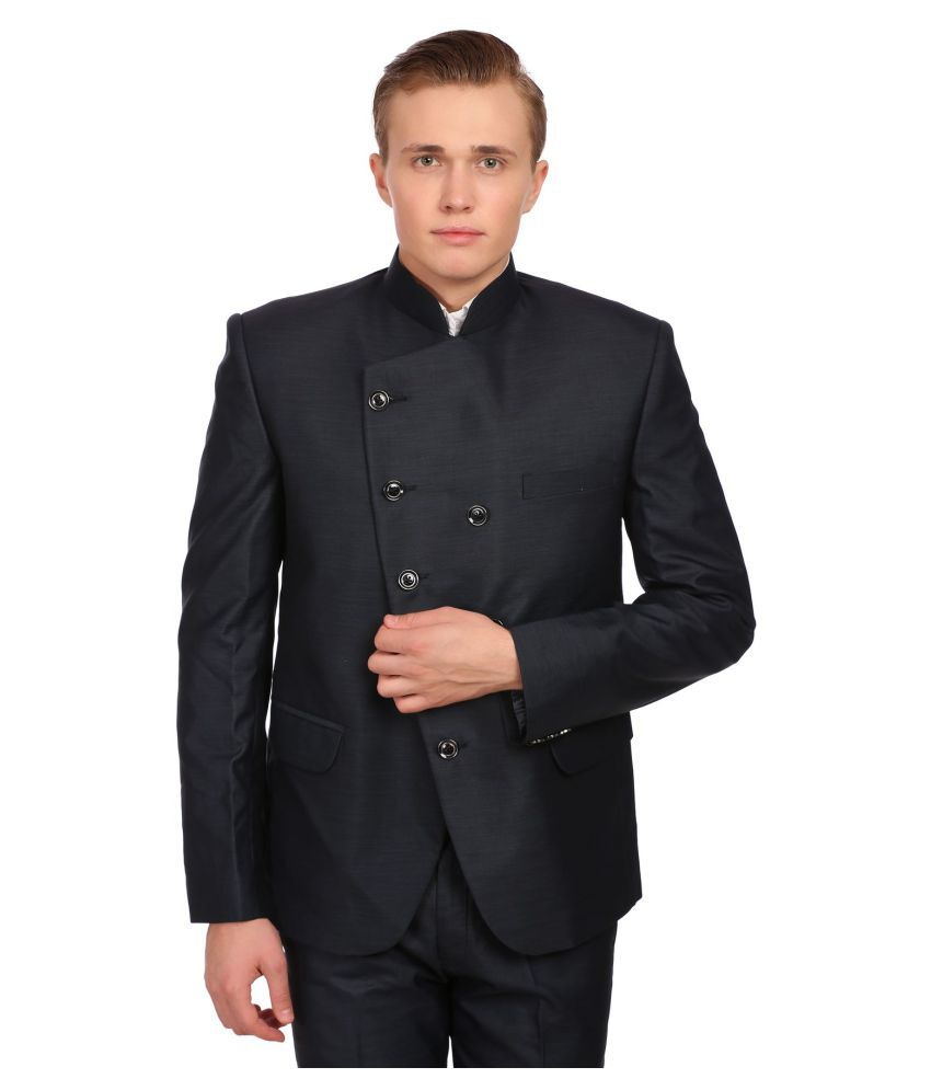 Wintage Black Solid festive 2 Piece Suits No