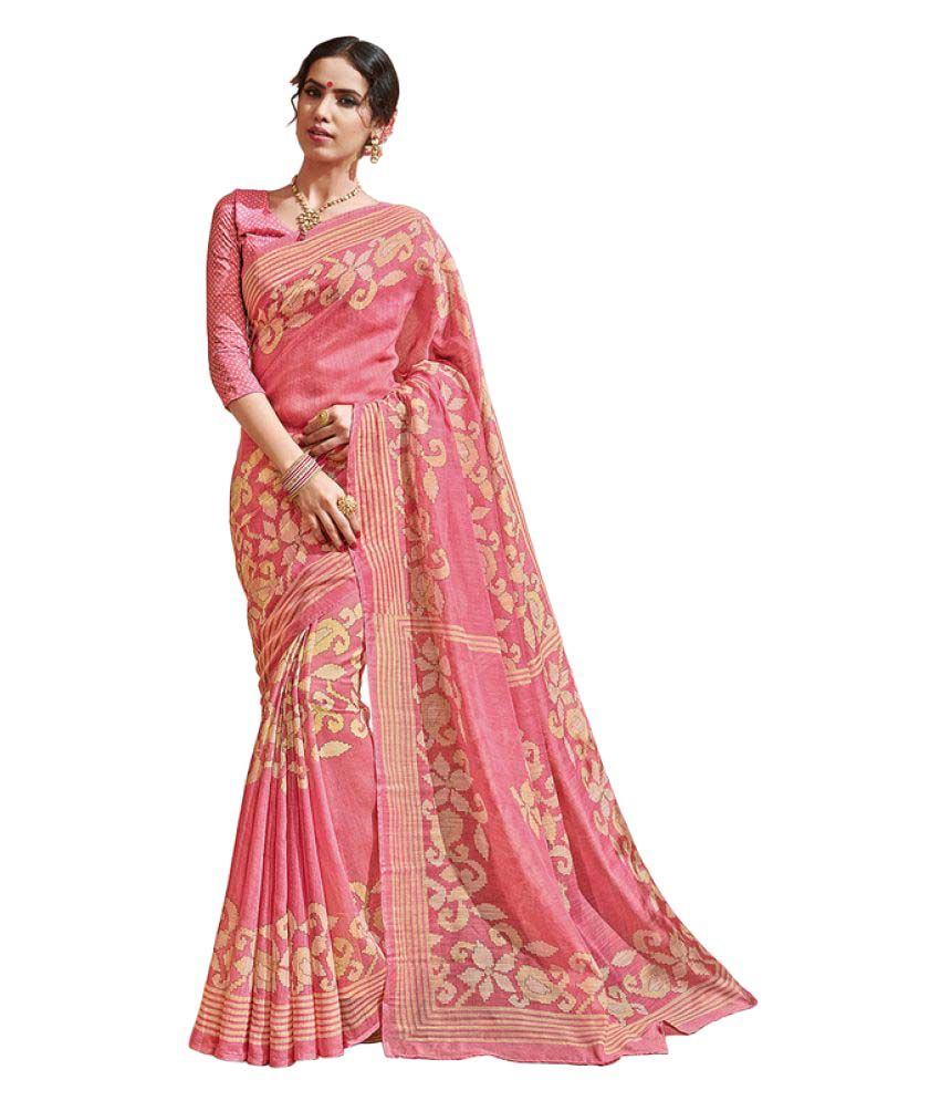 05339f2307c1d Vipul Pink Art Silk Saree available at SnapDeal for Rs.848