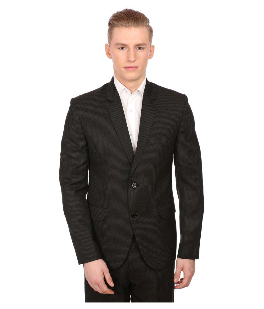 Wintage Black Striped Party Blazers