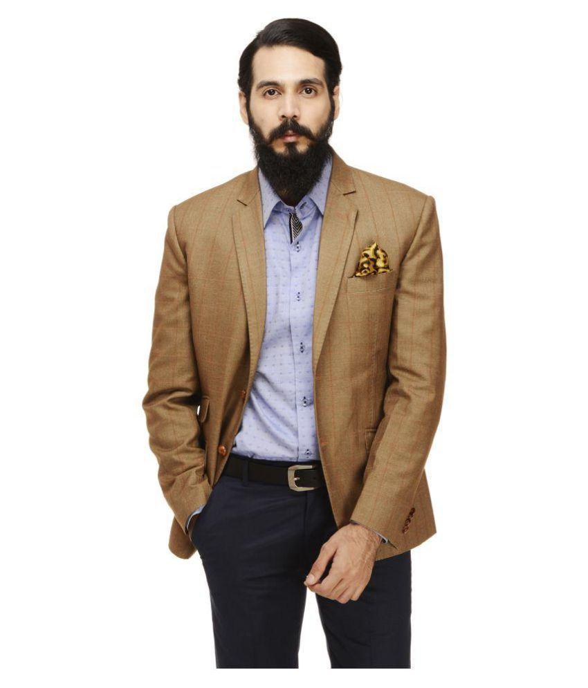 Monteil & Munero Brown Striped Casual Blazers