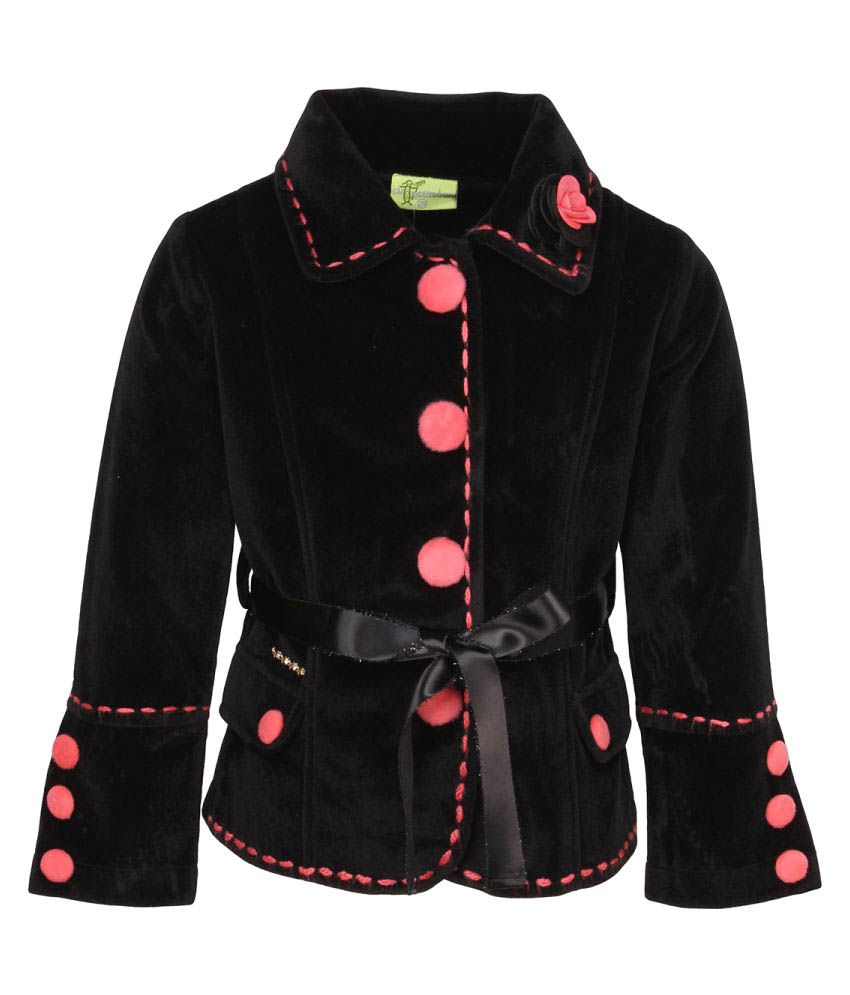 Cutecumber Black Coat for Girls