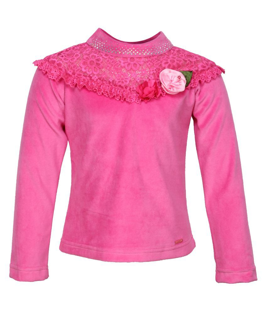 Cutecumber Giil's Pink Winter Top