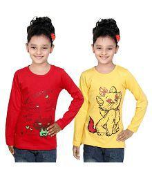 Indiweaves Multicolor T-shirt - Set of 2