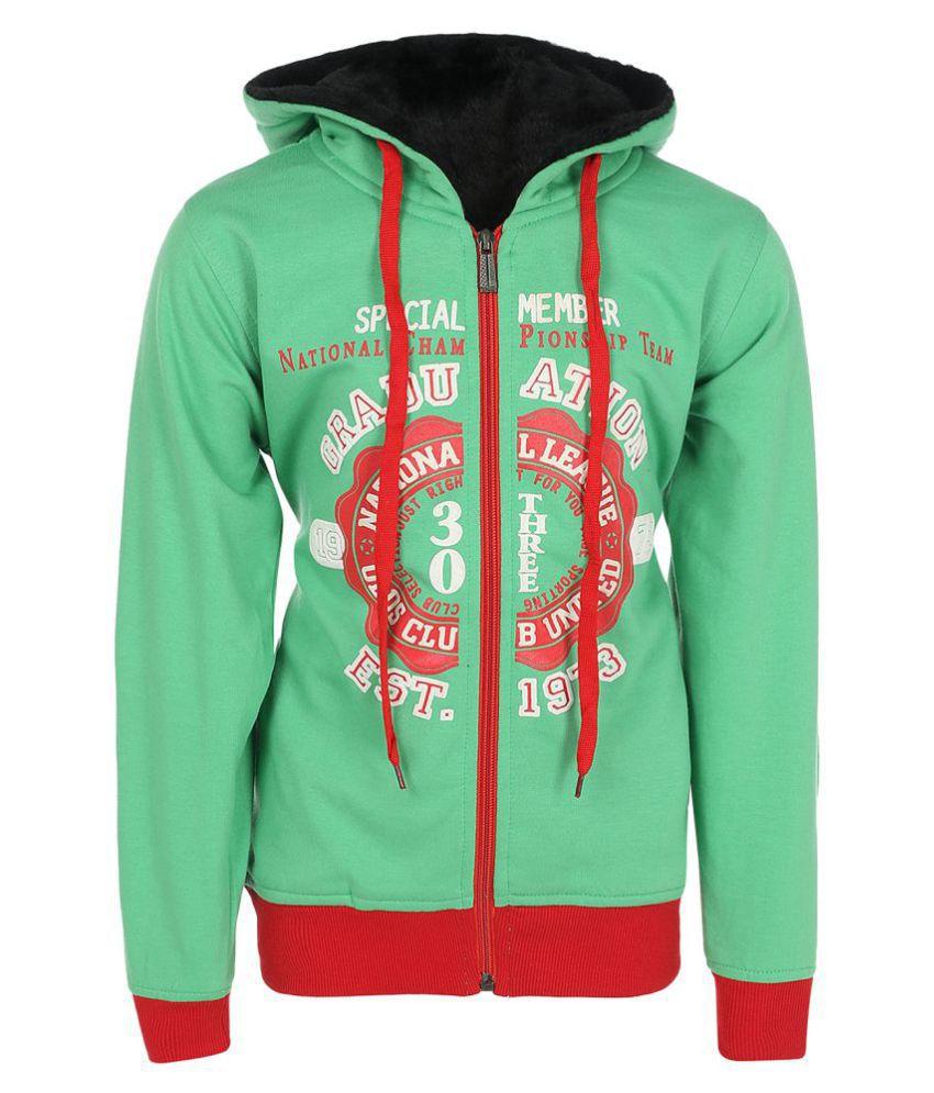 Haig-Dot Green Fleece Sweat Shirt