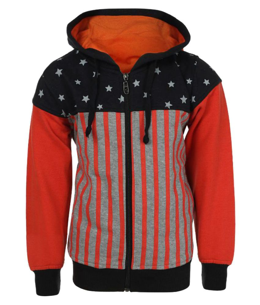 Haig-Dot Multicolour Fleece Sweatshirt with Hood