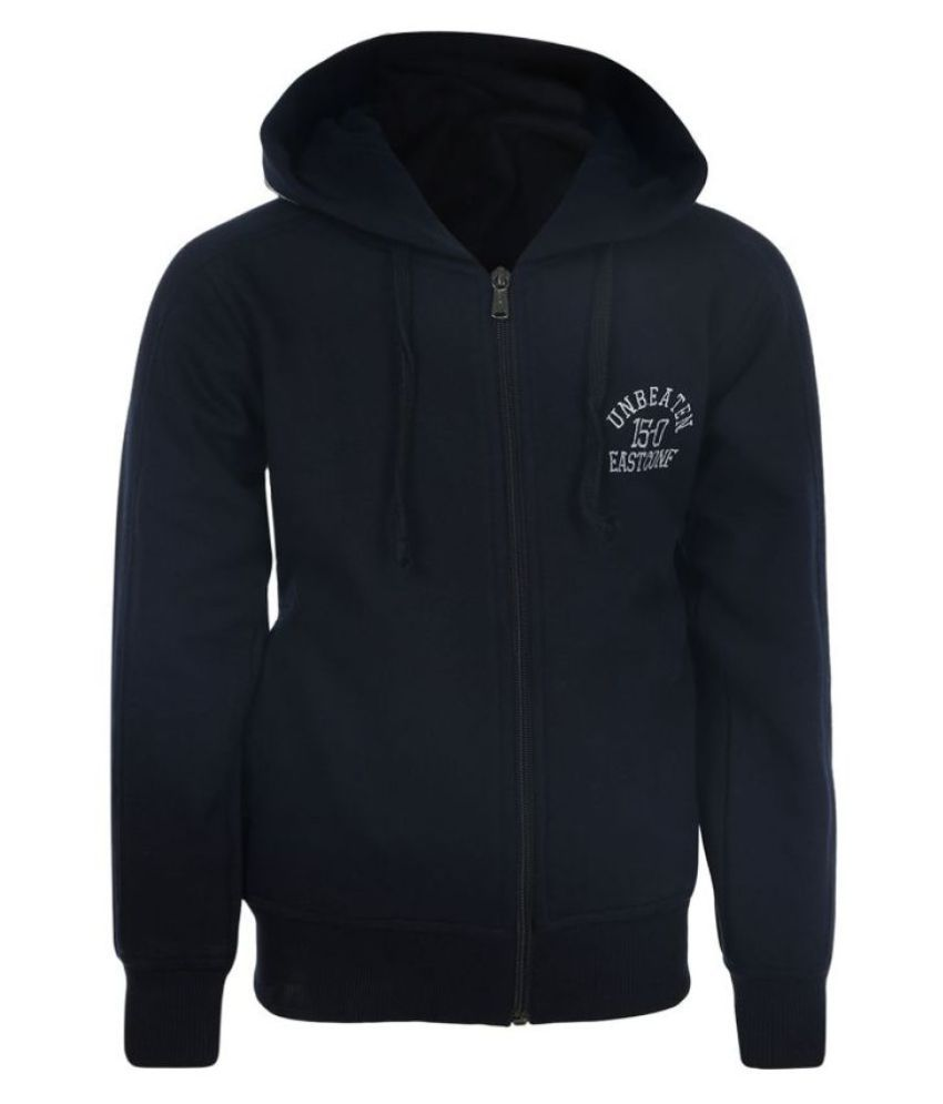 Haig-Dot Navy Fleece Sweatshirt