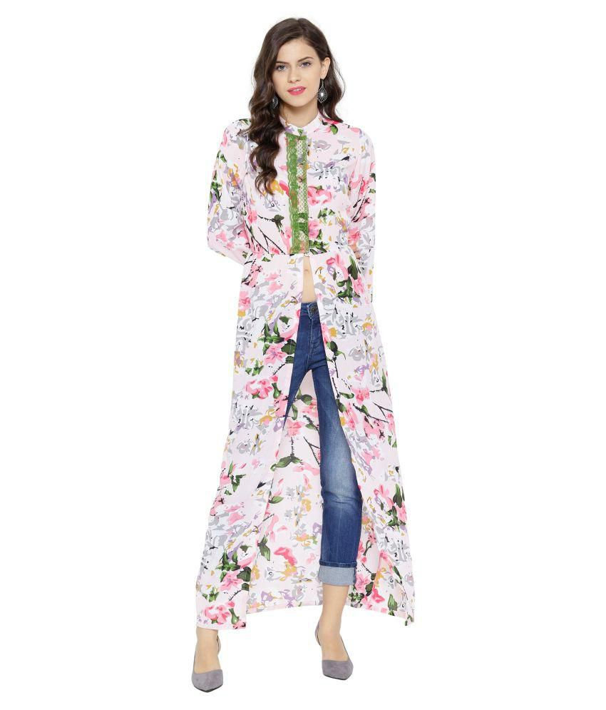 936ab2d0376 SASSAFRAS Pink Floral Maxi Top - Buy SASSAFRAS Pink Floral Maxi Top Online  at Best Prices in India on Snapdeal