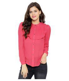 Sassafras Pink Poly Georgette Shirt