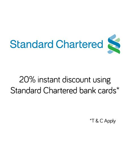Snapdeal: Get 20% Instant Discount Using Standard Chartered Bank Debit & Credit Cards