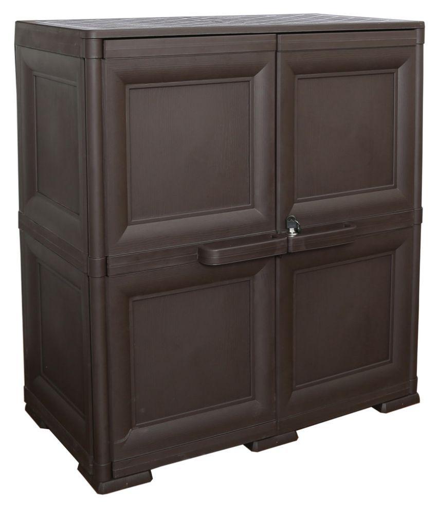 Cello Infiniti Medium Storage Cabinet Plain-Brown - Buy Cello ...