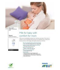 Philips Comfort Manual Breast Pump and Storage Cup - Manual  (White, Blue)