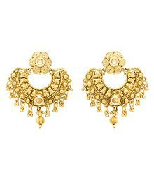 Voylla Earrings Gold Plated Women's Earrings Crafted from Alloy