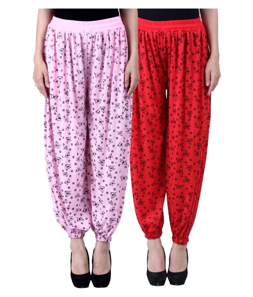 Numbrave Viscose Pack of 2 Harem Pants