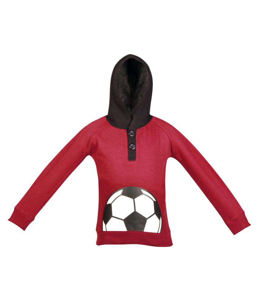 Gkidz Maroon  Fleece Sweatshirt