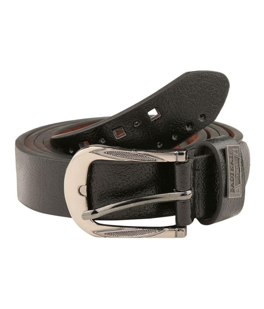 Makeover Black Leather Casual Belts