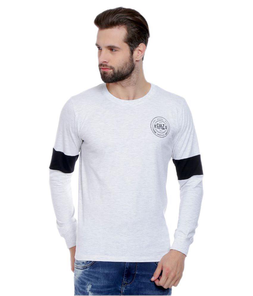 Cult Fiction White Round T-Shirt