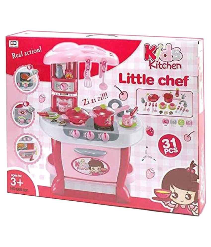 Latest Little Chef Kids Kitchen Play Set With Light Sound