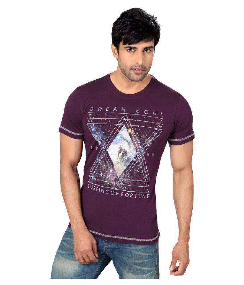 Astron Purple Round T-Shirt