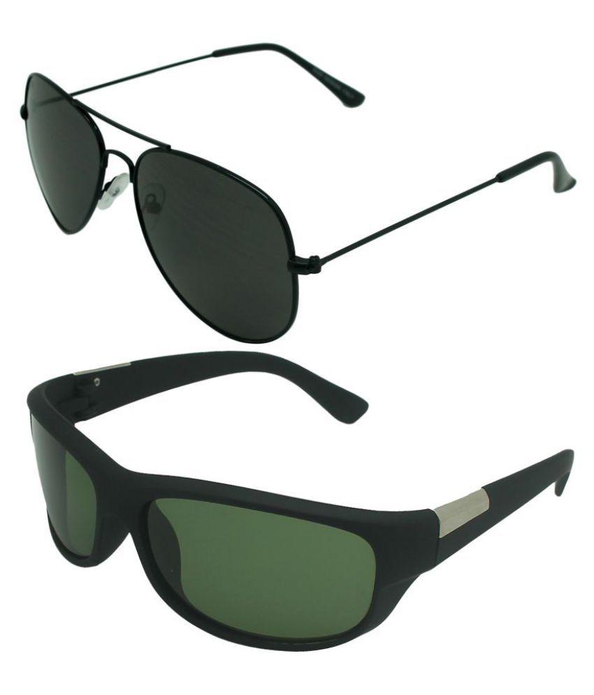 Verre Multicolor Wrap Around Sunglasses ( Aviator & Wrap-Around )