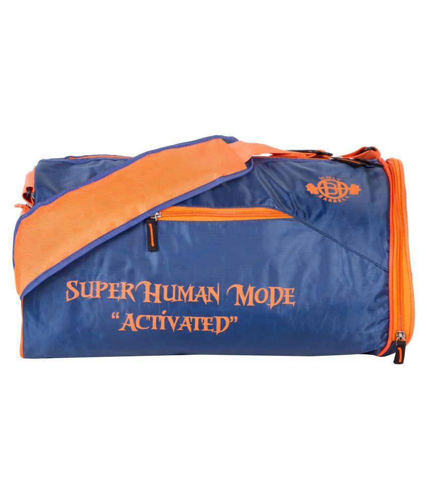 Holy Barbell Blue Orange Gym Bag
