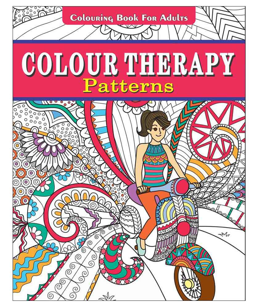 Colour Therapy Patterns Colouring Book For Adults