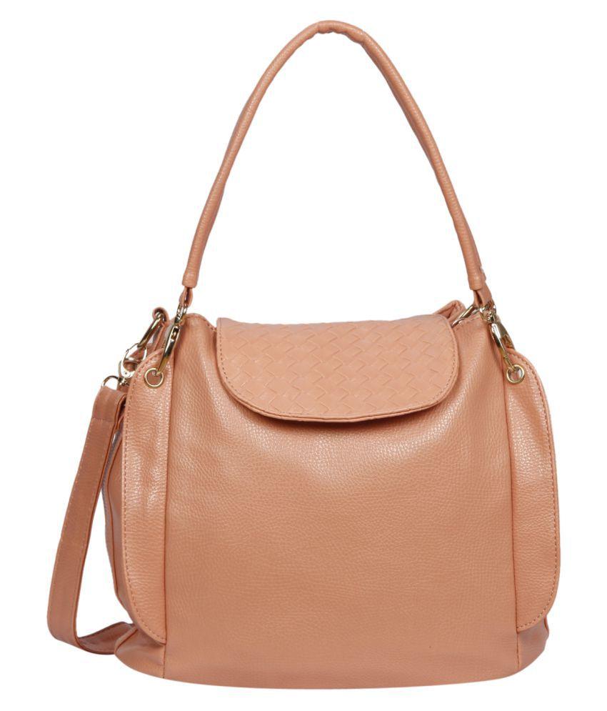 Bagkok Light Orange P.U. Shoulder Bag
