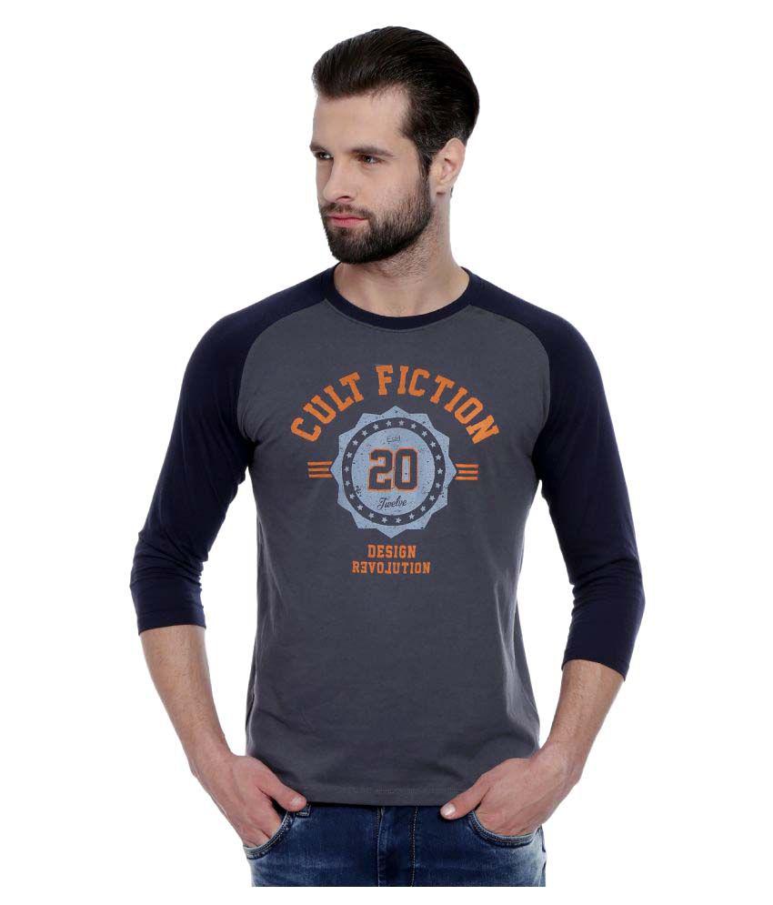 Cult Fiction Grey Round T-Shirt