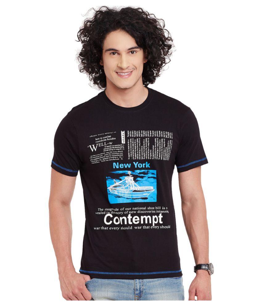 Fast N Fashion Black Round T-Shirt