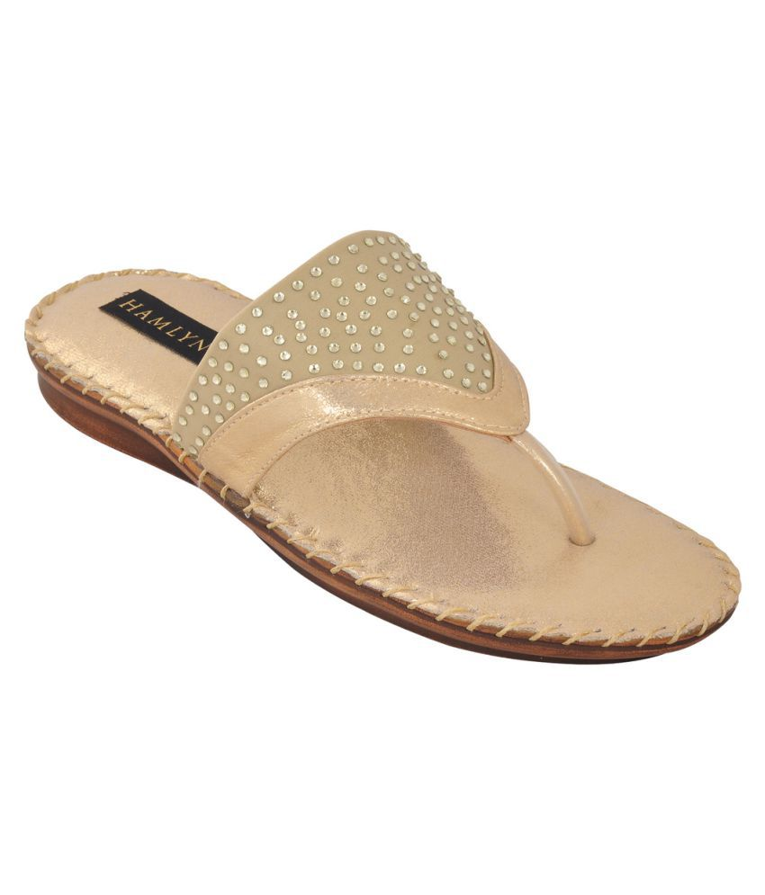 Hamlyn Shoes Gold Flats
