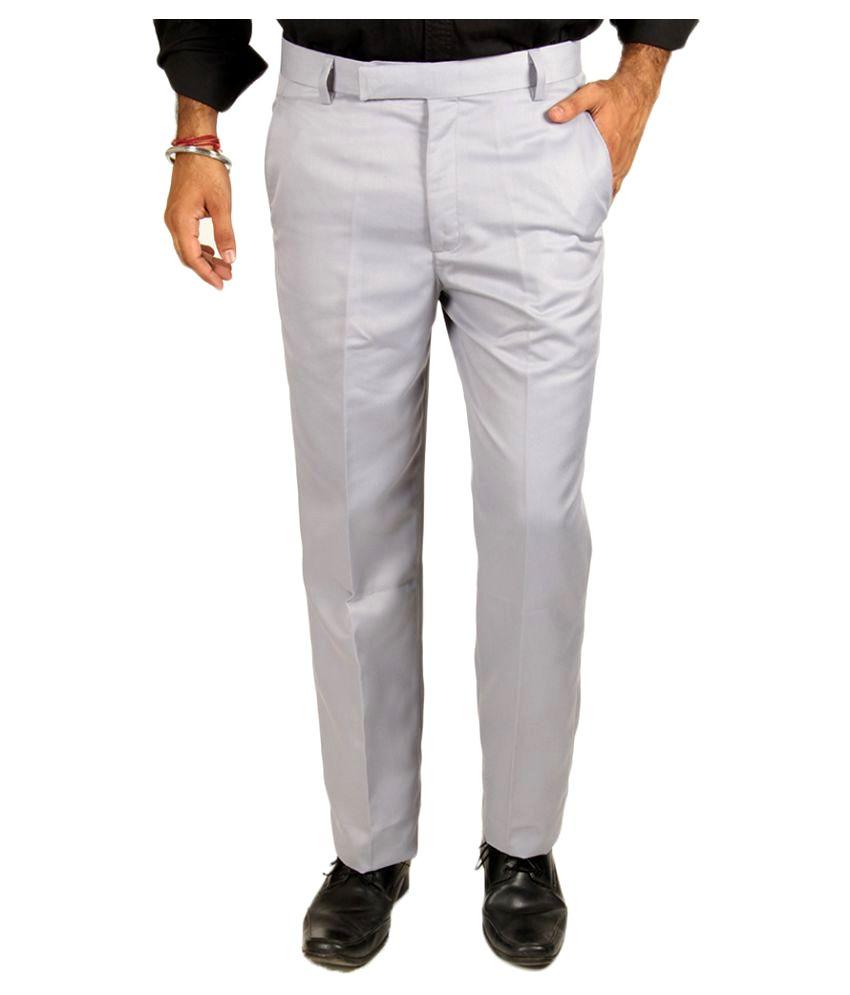 Van Galis Grey Regular Flat Trouser