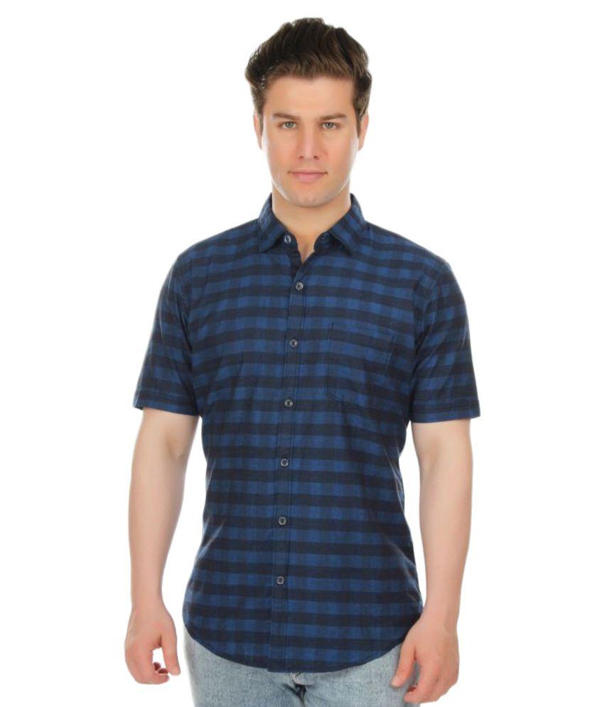 Vulcan Blue Casuals Slim Fit Shirt