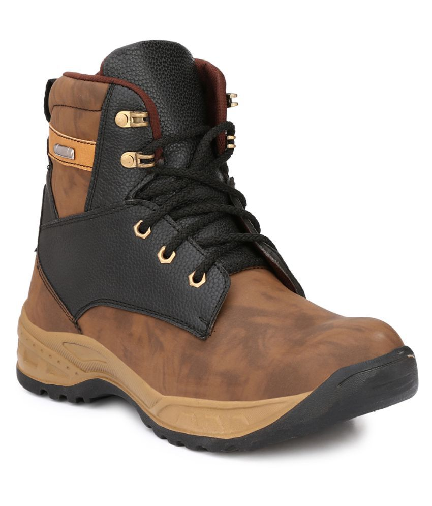 Buy Wave Walk Brown Safety Shoes Online At Low Price In India - Snapdeal