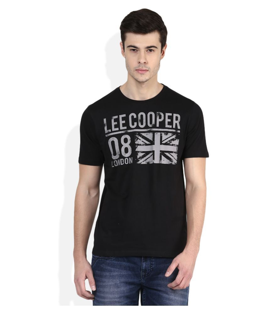 Lee Cooper Black Round T-Shirt