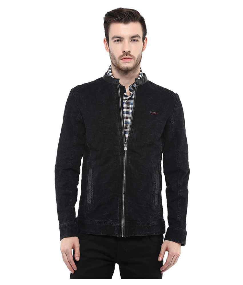 91b8e92d862e Mufti Black Casual Jacket - Buy Mufti Black Casual Jacket Online at Best  Prices in India on Snapdeal