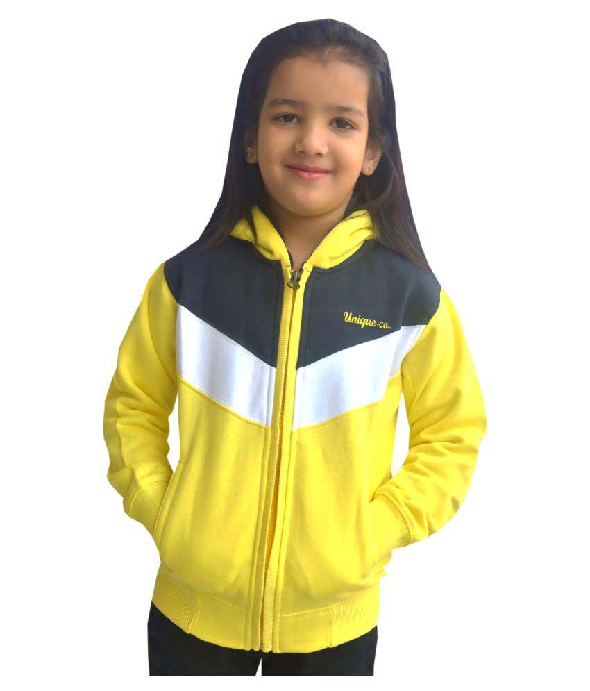 Shaun Yellow Cotton Blend Sweatshirt
