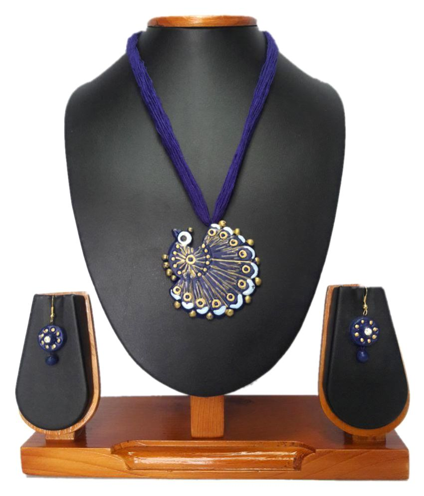 Zenx Peacock Purple Necklace Set