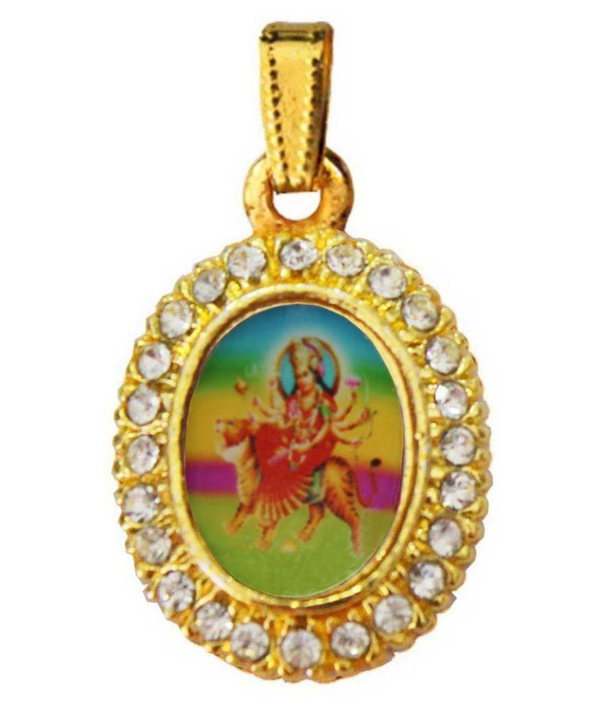 Mens Jewell Riligious  Multicolor  Durga Maa  Pendant