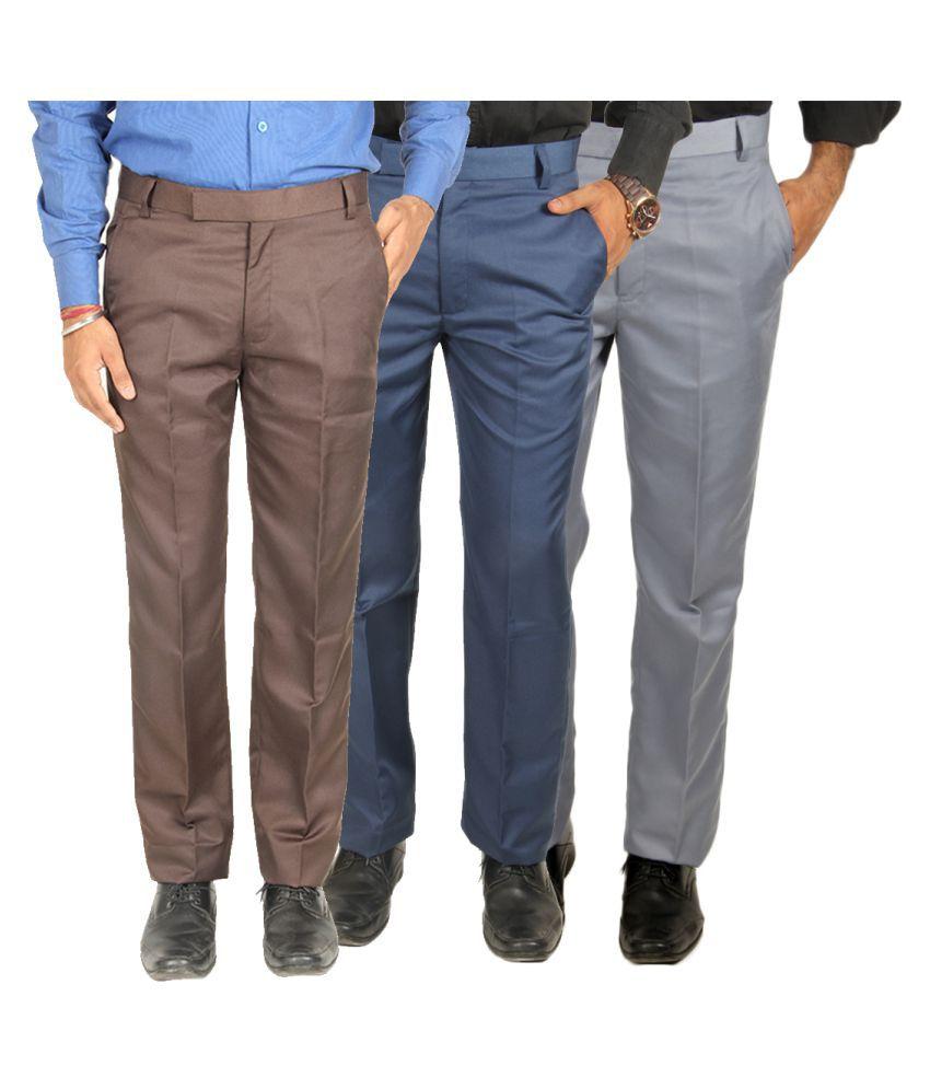 Van Galis Multi Regular Pleated Trouser