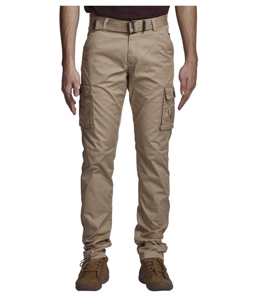 Beevee Beige Regular Flat Trouser