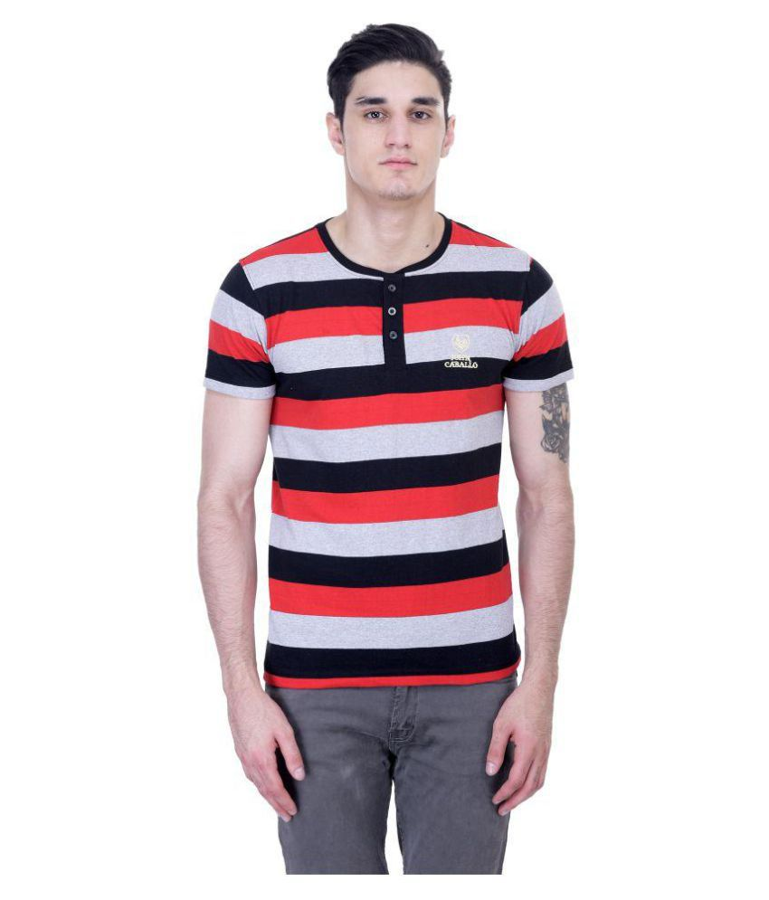 John Caballo Multi Henley T-Shirt