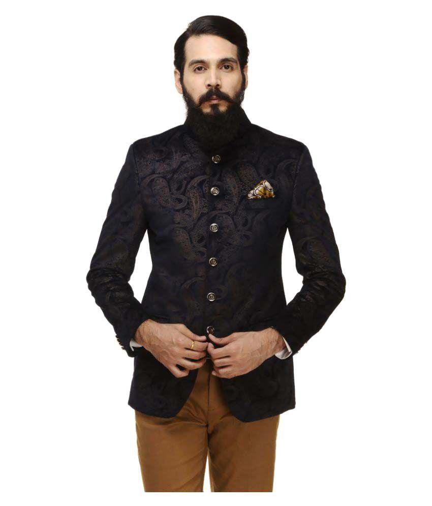 Monteil & Munero Navy Printed Casual Blazers