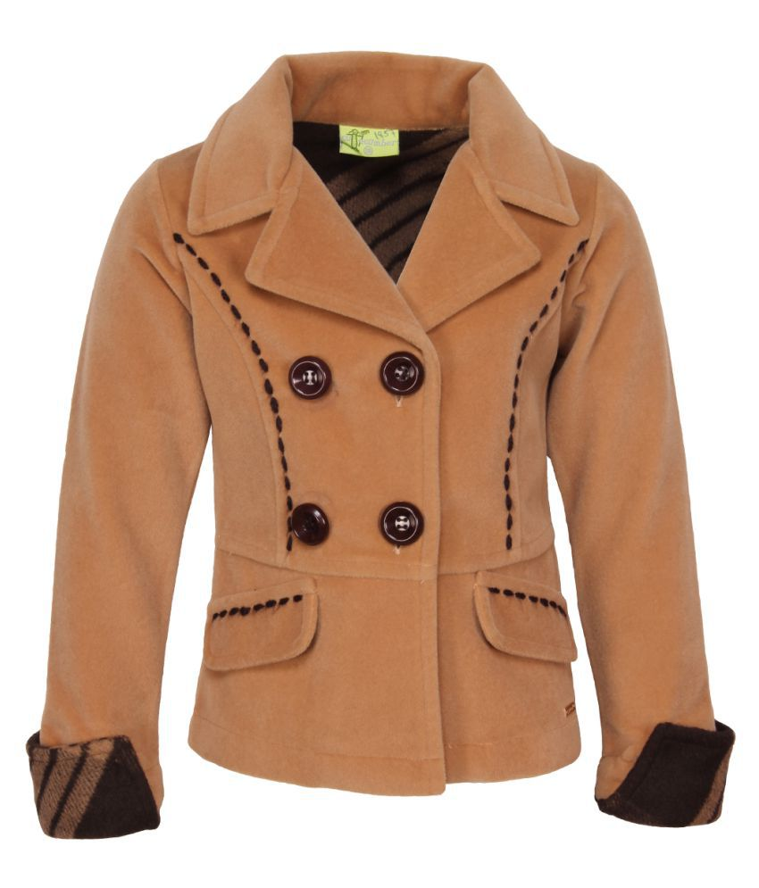 Cutecumber Brown Polyester Coat