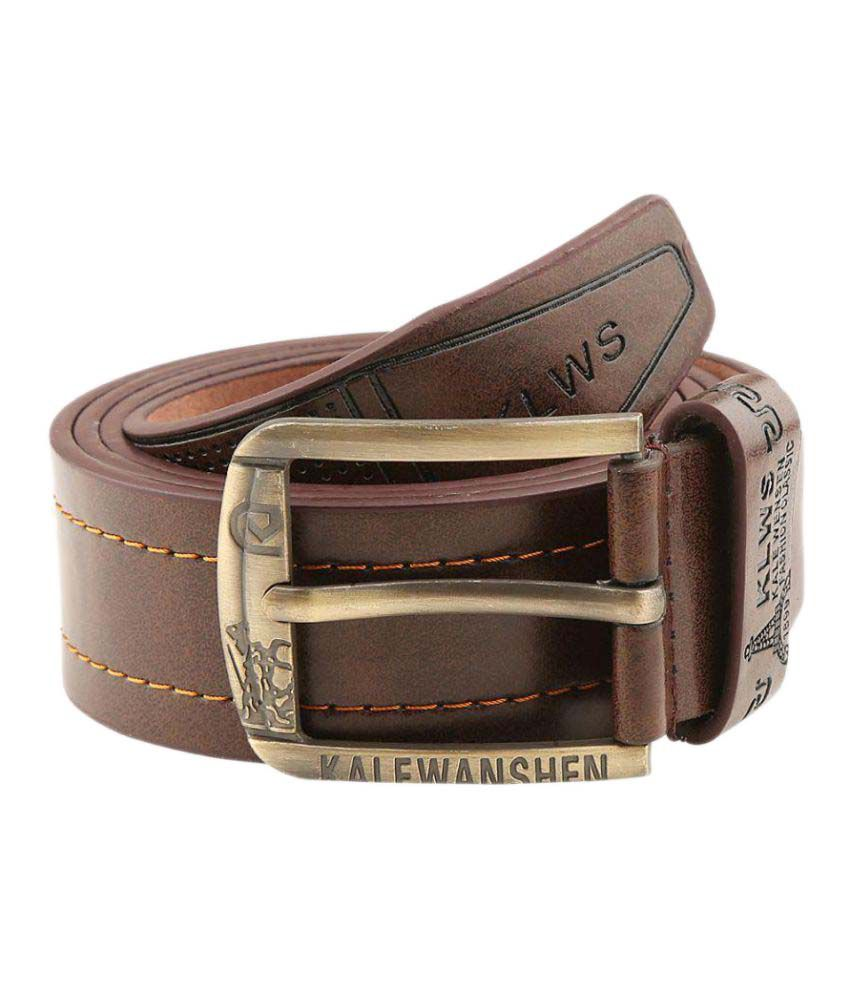 Makeover Brown Leather Casual Belts